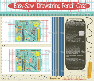 Easy Sew Pencil Case-(click for mock-ups)