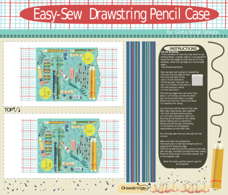 Easy Sew Pencil Case-(click for mock-ups)  fabric by gsonge on Spoonflower - custom fabric