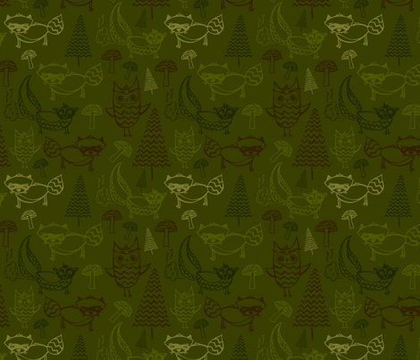 Forest Animals fabric by emily_caraballo on Spoonflower - custom fabric