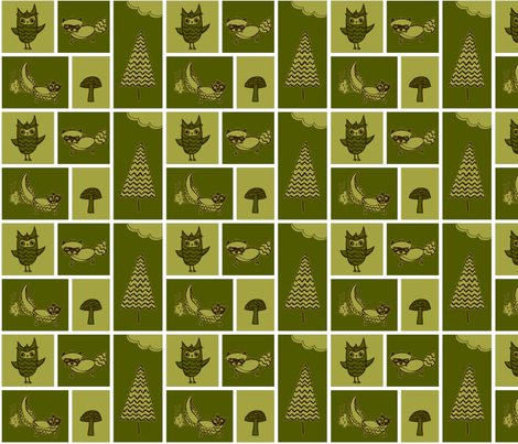 Forest Animal Blocks fabric by emily_caraballo on Spoonflower - custom fabric