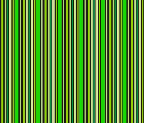 Black n Green Stripes