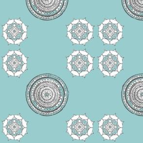 Floral Pouf Circles