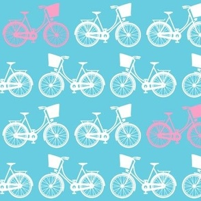 Dutch Bicycles on Blue