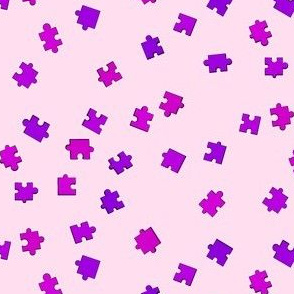 Puzzle Pieces - Purple