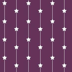Falling stars on deep purple