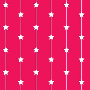 Falling stars on hot pink