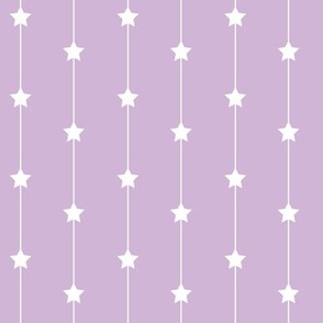 Falling stars on dusty lilac
