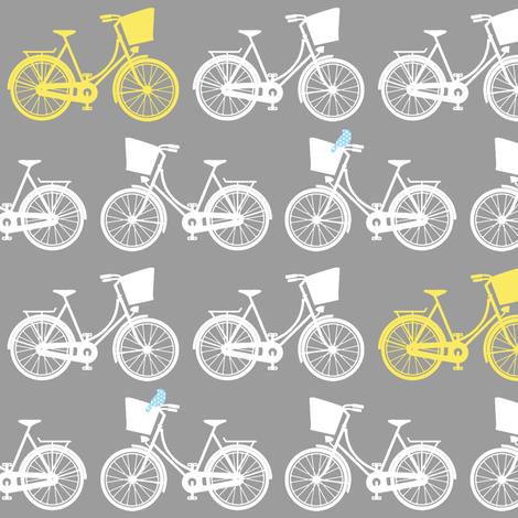BicycleGreyWhiteYellowBlueBird