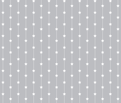 Falling stars on pale grey fabric by designseventynine on Spoonflower - custom fabric