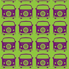 camper purple green