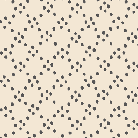 Circle dots - grey fabric by feliciadavidsson on Spoonflower - custom fabric