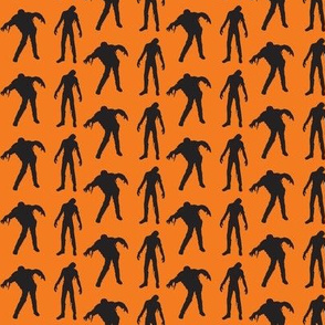 Sillouette of the Walking Dead Orange