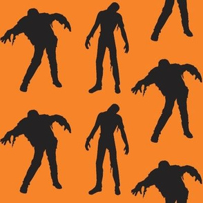 Large Silhouette of the Living Dead orange