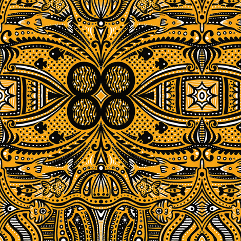 Golden Atlantis fabric by siya on Spoonflower - custom fabric