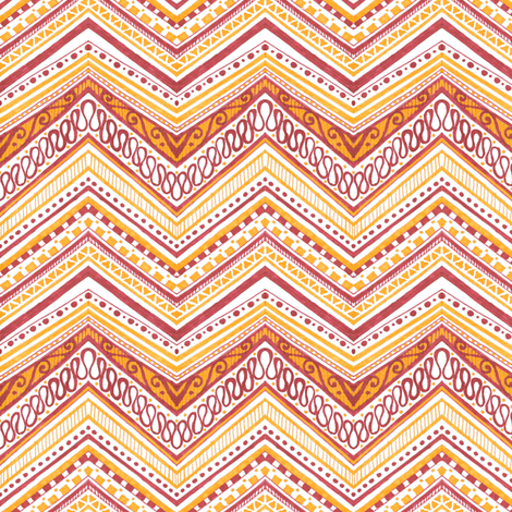 Marker Chevron fabric by siya on Spoonflower - custom fabric