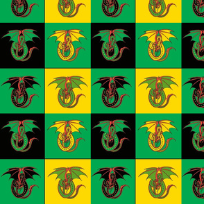 dragon w 4 patch green