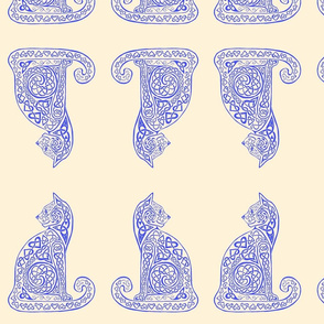 celtic cat 8 delft blue cream