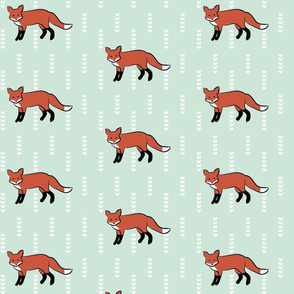 Fox On Mint