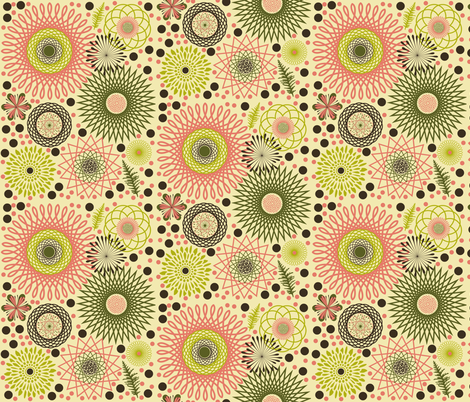 Dim Sum Ting 2 large fabric by whimzwhirled on Spoonflower - custom fabric