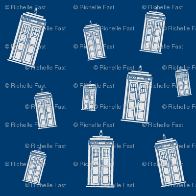 TARDIS Blue Collage