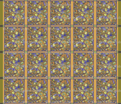 UndulatingLeaves fabric by Kristie Hubler