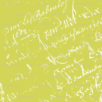 Sarah Green French script