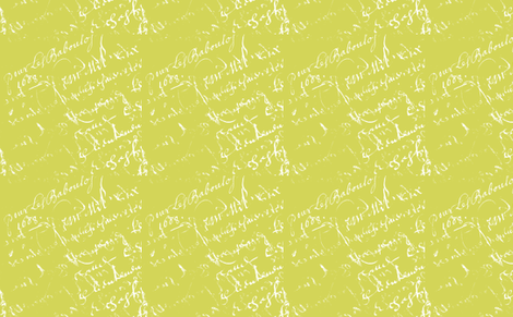Sarah Green French script fabric by karenharveycox on Spoonflower - custom fabric