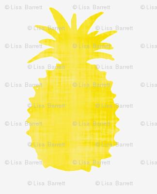 Golden pineapple print