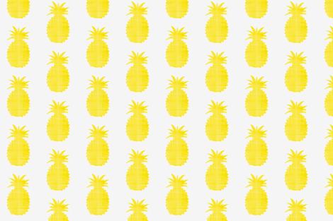 Golden pineapple print fabric by ninaribena on Spoonflower - custom fabric