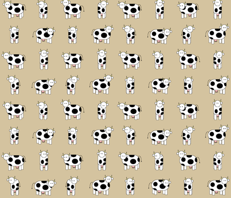 The cows are watching you. fabric by engelbam on Spoonflower - custom fabric