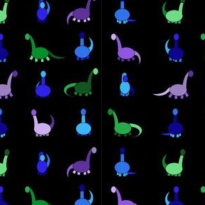 cool dinosaurs in black