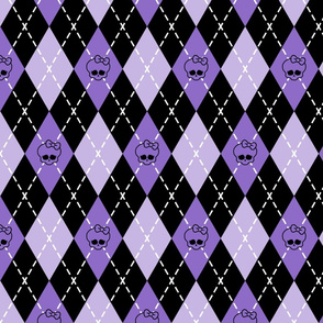 Monster High - Purple rhombus (argyle)