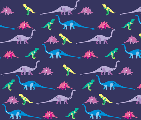 Those funky old dinosaurs fabric by designseventynine on Spoonflower - custom fabric