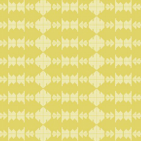Green Dot Ikat fabric by amyteets on Spoonflower - custom fabric