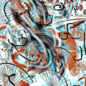 cycling with white background
