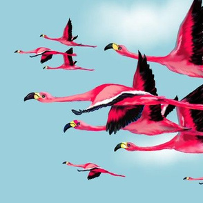 Val's flamingoes