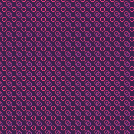 Purple Looped Pink fabric by hrhusagi on Spoonflower - custom fabric