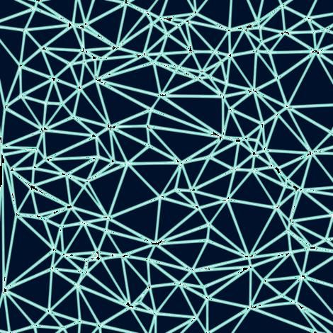 Delaunay Triangulation fabric by itsahootdesigns on Spoonflower - custom fabric
