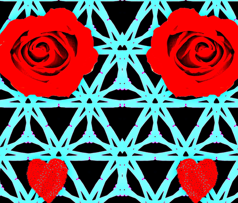 collage of rose fabric by ann-dee on Spoonflower - custom fabric