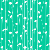 Pom Flower stems Teal