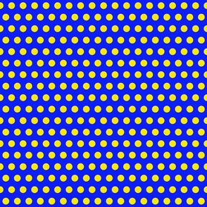 Sailor Polka Dot Yellow on Blue