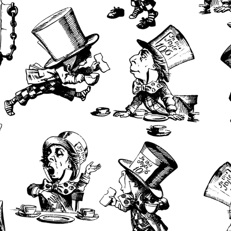 Mad Hatter fabric by pond_ripple on Spoonflower - custom fabric