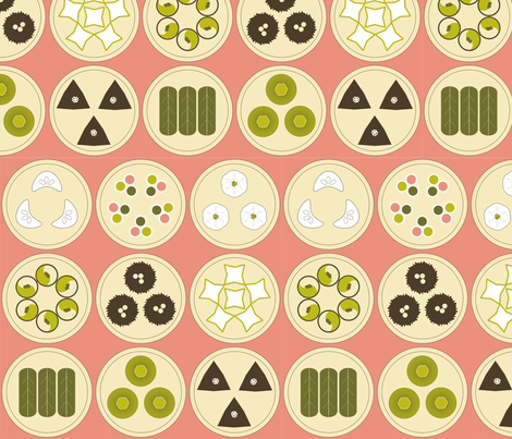 Dim Sum Feast fabric by schizoclectic on Spoonflower - custom fabric