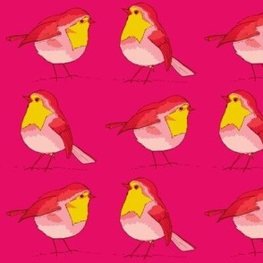 robins pink and lemon