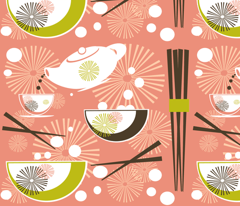 Hoi Sum Dim Sum Yum Cha fabric by contemporaryassets on Spoonflower - custom fabric