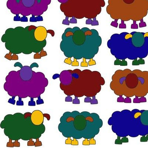 solid colorful sheeps