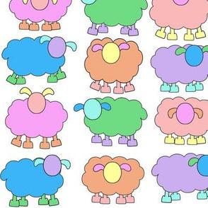 pastel sheeps