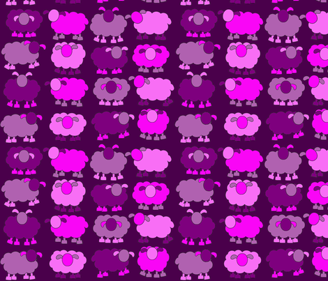 pink sheeps fabric by engelbam on Spoonflower - custom fabric