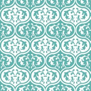 Moroccan Leaves -Aqua
