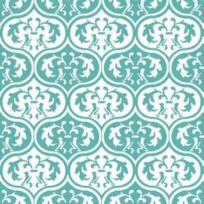 Moroccan Leaves -Aqua